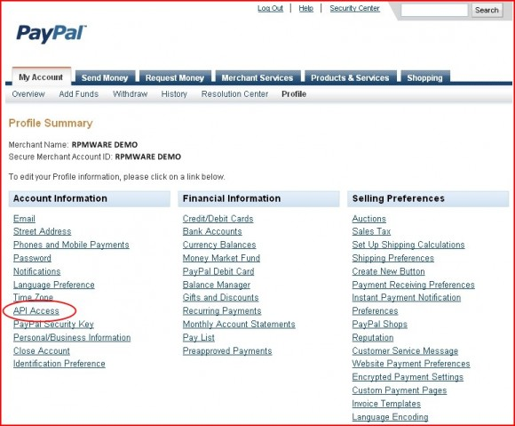 how to get paypal api credentials
